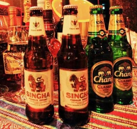 タイのビールの画像