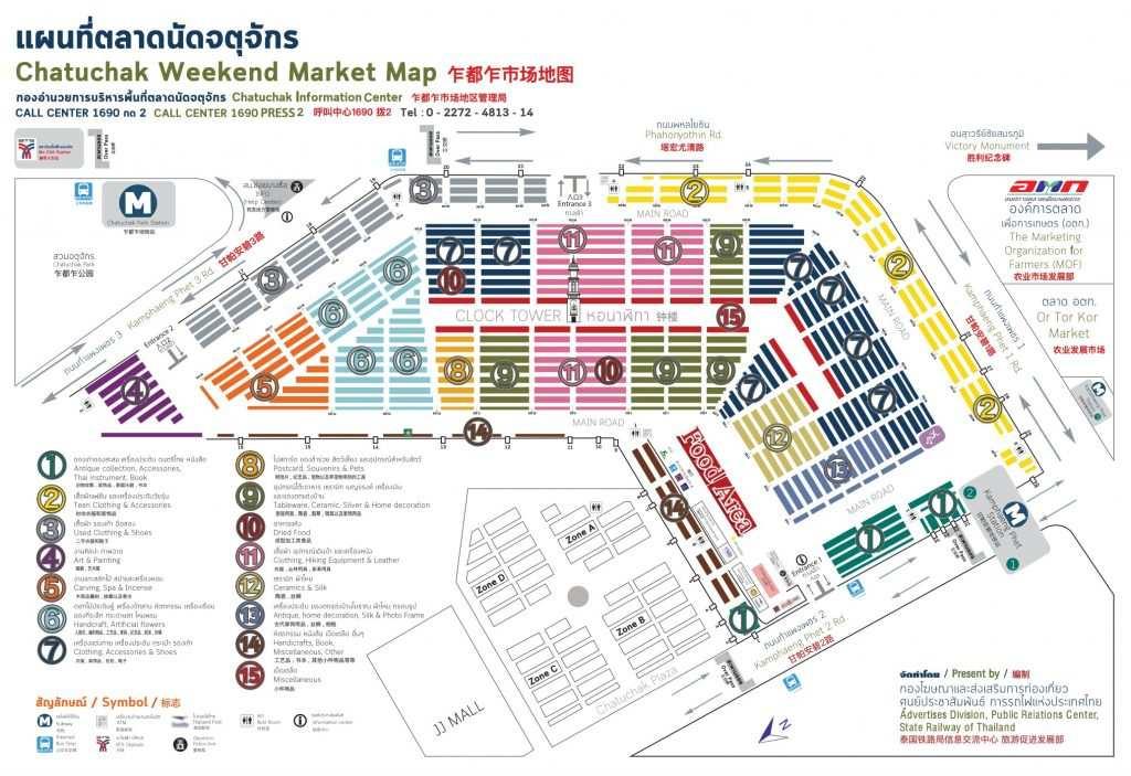 ウィークエンドマーケットのマップガイドの画像