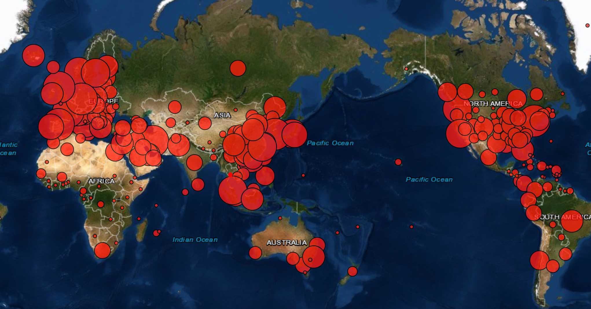 新型コロナウイルスの感染状況マップのアイキャッチ