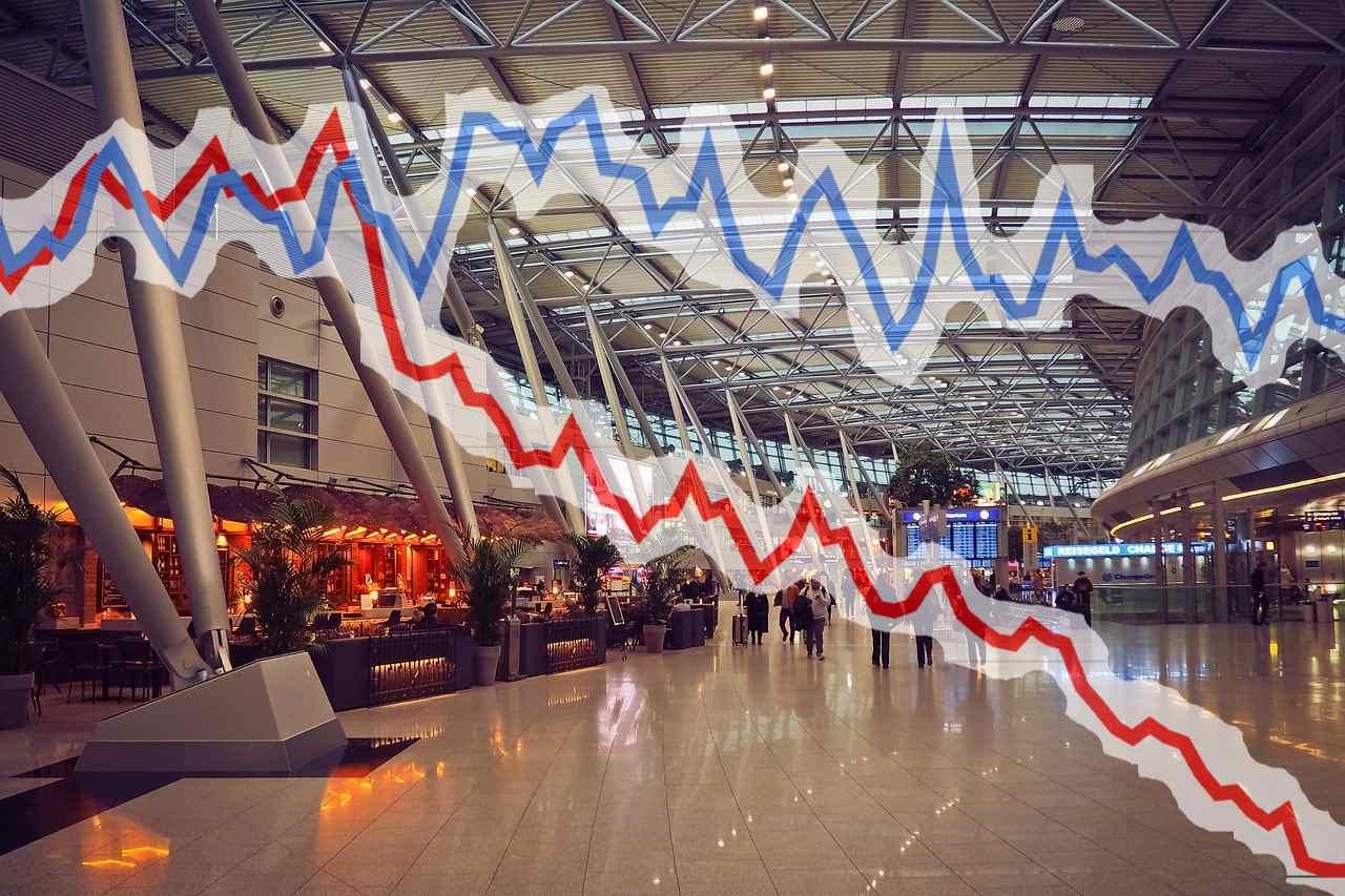 スワンナプーム国際空港の旅行客グラフ